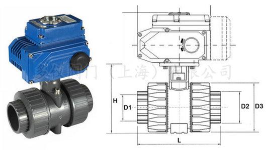 电动upvc球阀结构图