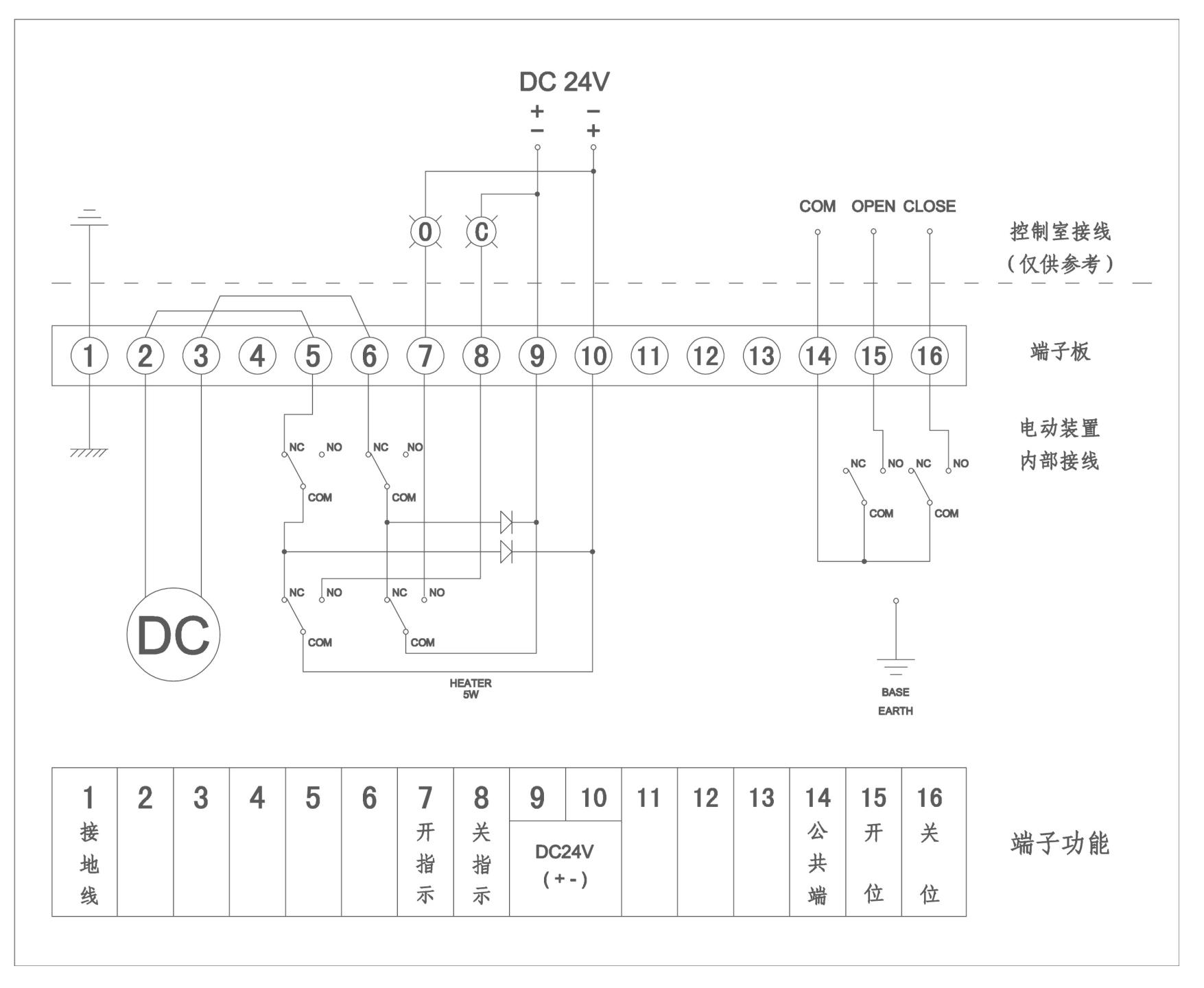 DC24V防爆开关型接线图